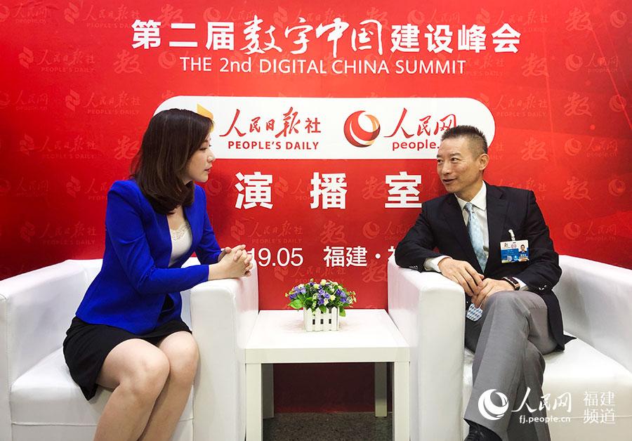 人民网专访中国电子副总经理陈小军:构建数字城市,数据安全是关键